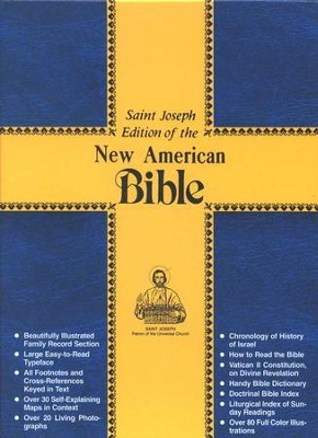 St. Joseph, NAB Gift Edition, Medium Size  Red Imitation Leather  -