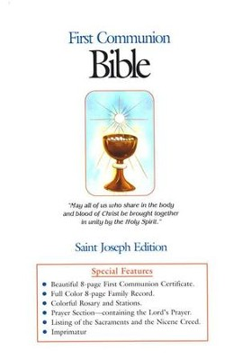 St. Joseph, First Communion Bible, NAB, White Flex cover, Boys Edition  -