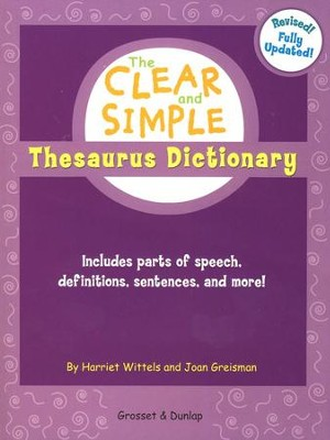 Clear & Simple: Thesaurus, Revised Edition   -     By: Harriet Wittles, Joan Griesman