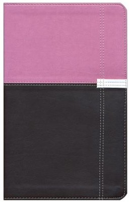 NIV Life Application Study Bible, Personal Size Indexed, Italian Duo-Tone, Orchid/Chocolate  -