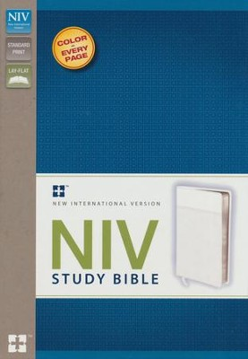 NIV Study Bible, White  -