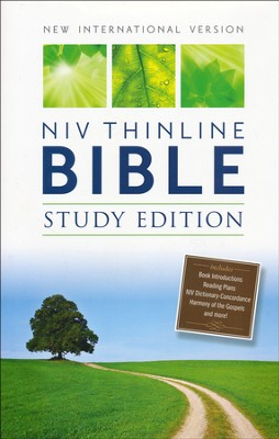 NIV Thinline Bible, Study Edition, Hardcover, Black   -