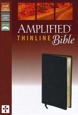 Amplified Thinline Bible, Black  -