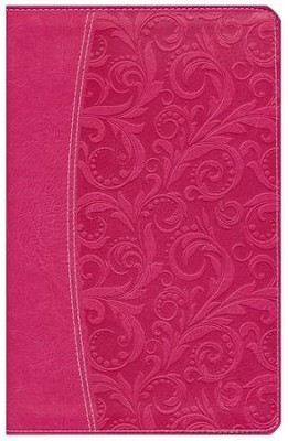 NIV Essentials Study Bible, Italian Duo-Tone, Honeysuckle Pink  - Slightly Imperfect  -