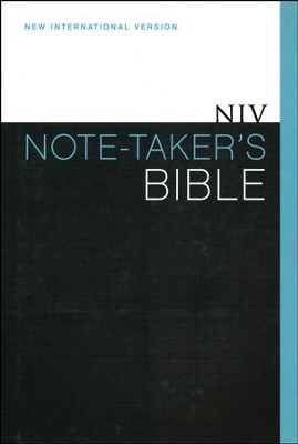 NIV Note-Taker's Bible, Hardcover, Dust Jacket   -