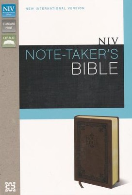 NIV Note-Taker's Bible--soft leather-look, brown   -