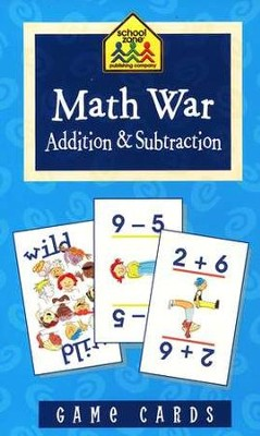 Math War Addition & Subtraction Game Cards   -