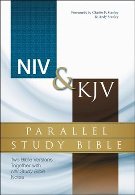 NIV & KJV Parallel Study Bible: Two Bible Versions Together for Study and Comparison, Hardcover,  -