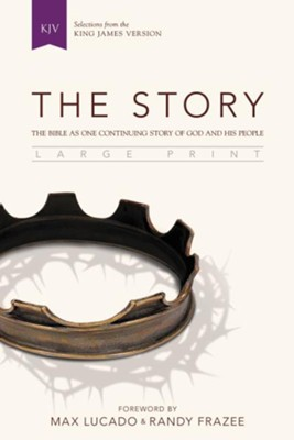 The Story, KJV, Large Print: The Bible as One Continuing Story of God and His People, Black  -