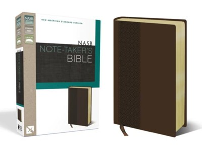 NASB Note-Taker's Bible, Italian Duo-Tone  -