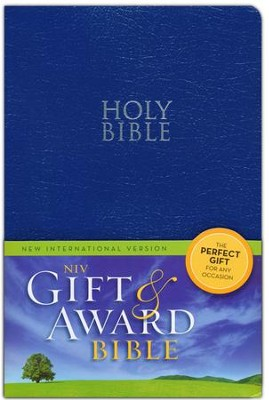 NIV 2011, Gift & Award Bible, Blue, Leather-Look  - Imperfectly Imprinted Bibles  -