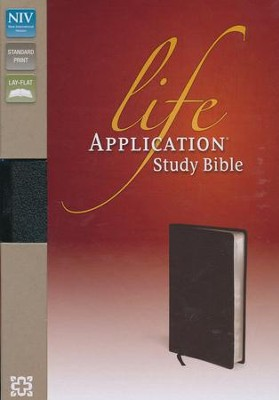 NIV Life Application Study Bible--bonded leather, black  -