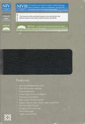 NIV Life Application Study Bible--bonded leather, black - Slightly Imperfect  -