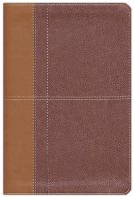 NIV Life Application Study Bible, Imitation Leather, Carmel Dark Carmel - Slightly Imperfect  -
