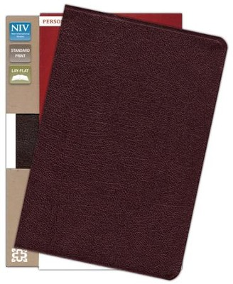 NIV Life Application Study Bible, Personal Size, Bonded Leather, Burgundy  -
