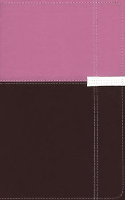 NIV Life Application Study Bible, Personal Size, Italian Duo-Tone, Orchid/Chocolate  -