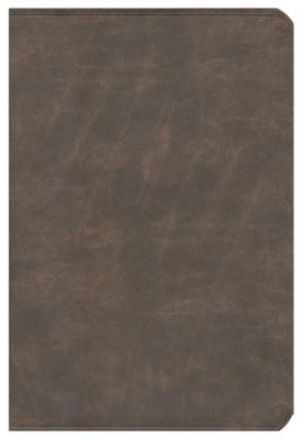 NIV Life Application Study Bible, Large Print, Bonded Leather, Distressed Brown  -