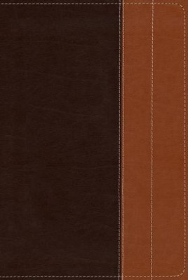 NIV Life Application Study Bible, Large Print, Italian Duo-Tone, Chocolate/Tan  -