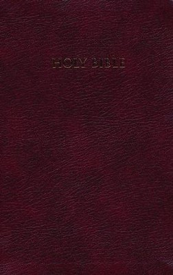 NIV Largeprint, Reference Bible, Burgundy  -