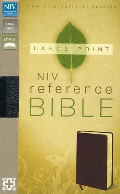 NIV Largeprint, Reference, Black - Slightly Imperfect  -