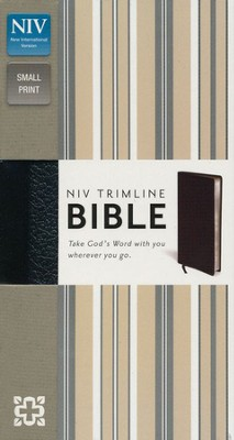 NIV Trimline Bible, Black  -