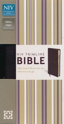 NIV Trimline Bible, Burgundy  -