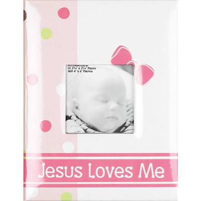 Jesus Loves Me, Photo Album, Pink  -