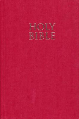NIV Pew Bible, Large Print, Red   -