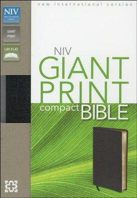 NIV Compact Bible, Giant Print, Bonded leather, black   -