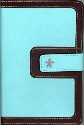 NIV Compact Thinline Bible, Turquoise/Chocolate Duo-Tone, Limited Edition - Imperfectly Imprinted Bibles  -