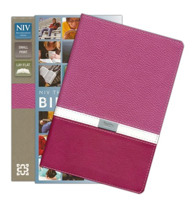 NIV Compact Thinline Bible, Orchid/Razzleberry Duo-Tone  -