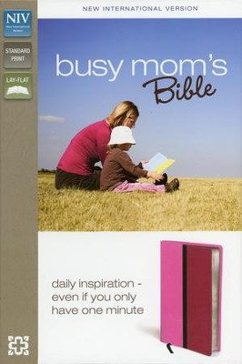 NIV Busy Mom's Bible, Pink/Hot Pink Duo-Tone - Imperfectly Imprinted Bibles  -