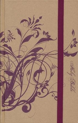 NIV Thinline Bible, Plum Floral  -
