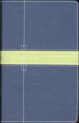 NIV Thinline Bible, Duo-Tone, Midnight Blue/Moss Green   -