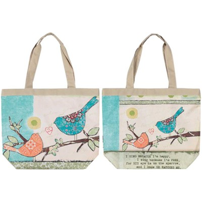 His Eye is on the Sparrow Tote  -