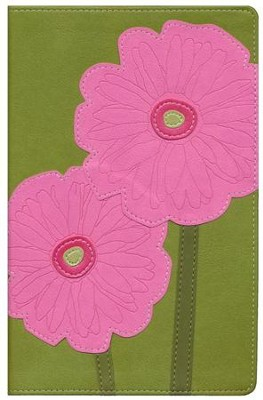 NIV Thinline Bible, Bloom Collection--Gerbera Daisy Duo-Tone  -