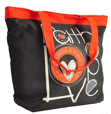 Faith, Love, Hope Tote  -     By: Amylee Weeks