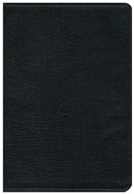 NIV Thinline Large-Print Bible--top grain leather, black  -