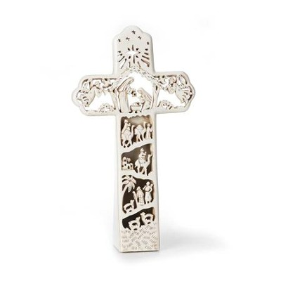Nativity Tabletop Cross, Lighted  -