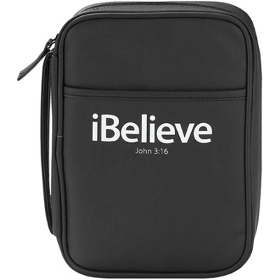 iBelieve Bible Cover, John 3:16, Black, Medium  -
