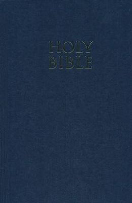NIV Church Bible, Navy - Imperfectly Imprinted Bibles  -