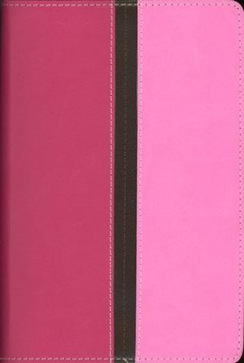 NIV Compact Thinline Bible, Hot Pink/Bubble Gum Duo-Tone, Limited Edition - Imperfectly Imprinted Bibles  -
