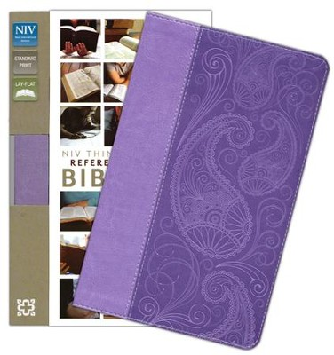 NIV Thinline Reference Bible, Lavender Duo-Tone - Slightly Imperfect  -