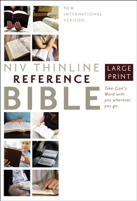 NIV Largeprint, Reference Bible - Slightly Imperfect  -