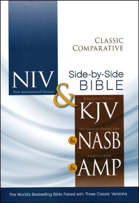 Classic Comparative Side-by-Side Bible (NIV, KJV, NASB, Amplified) - Slightly Imperfect  -