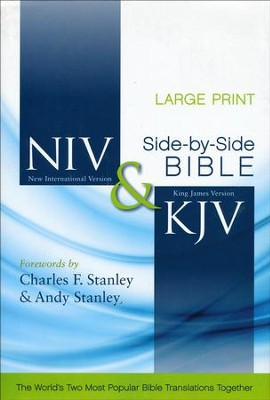 NIV/KJV Side-by-Side Bible, Large-Print Edition   -