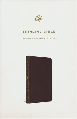ESV Thinline Bible, Bonded leather, Black   -     By: Bible