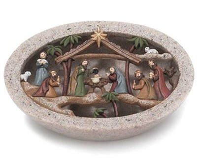 Stone Creche with Holy Family  -