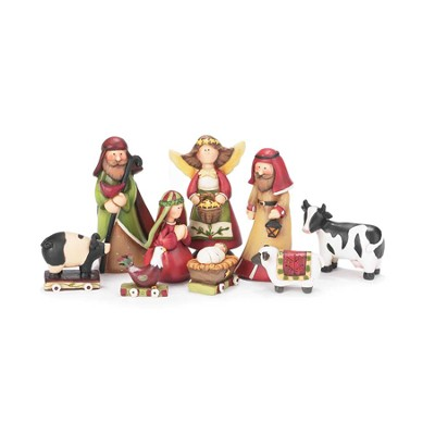 Nativity, Set of 9 Pieces  -
