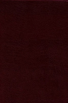 NIV Study Bible, Bonded Leather, Burgundy, Thumb Indexed  -